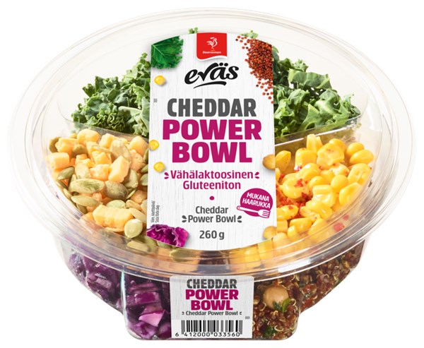 Eväs Power Bowl Cheddar 260 g
