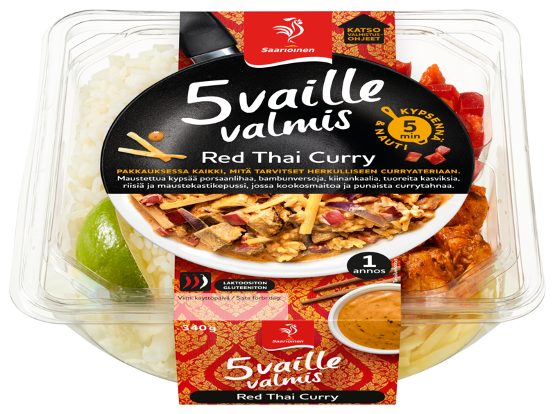 5 vaille valmis Red Thai Curry 340 g